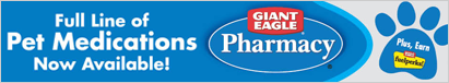 Full Line of Pet Medications Now Available at Giant Eagle!