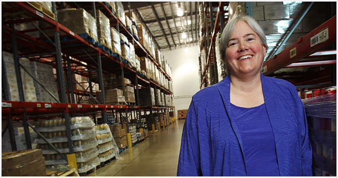 Lisa Scales, chief executive officer for Greater Pittsburgh Community Food Bank